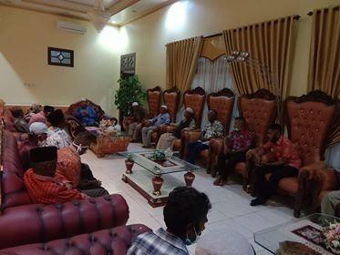 Tim disaat silaturahmi bersama Bapak Walikota Tual Pada Pendopo.